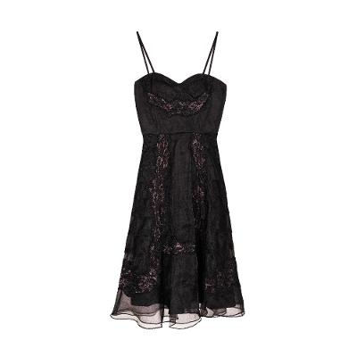 tubetop style lace midi dress black